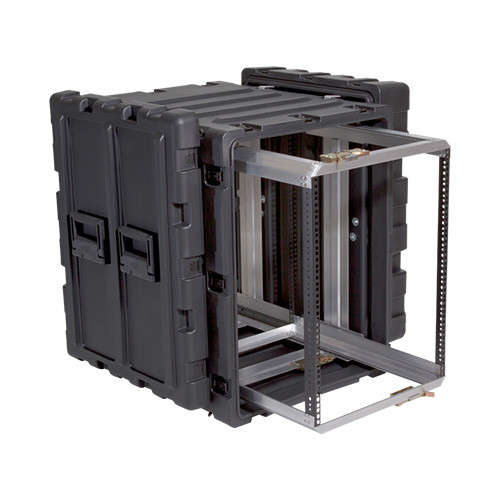 14U Case with Slide Out Rack