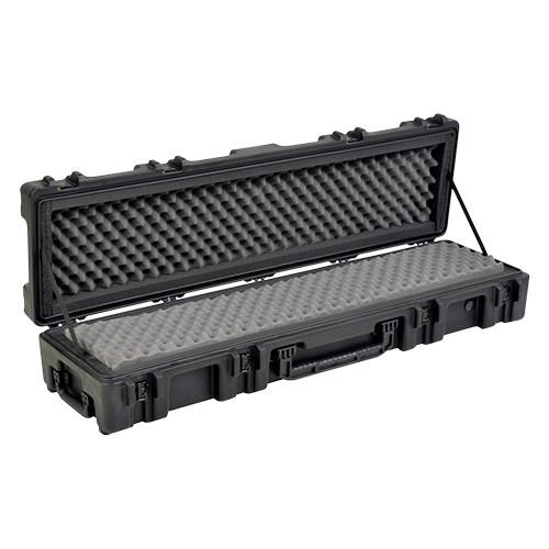 """Waterproof Case 7"""" Deep w/ Dual Layer Foam, Wheels & Tow Handle - Black"""