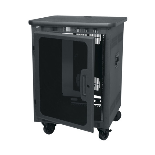 Middle Atlantic PTRK-14MDK - 14u Gangable Enclosure Rack with Graphite Laminate Top