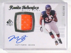 2008 Sp Authentic Matt Forte autograph auto 2clr patch rc rookie #D902/999 *4473