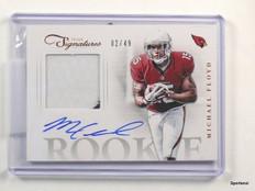 DELETE 13092 2012 Prime Signatures Michael Floyd autograph auto patch rc #D02/49 #26 *43606
