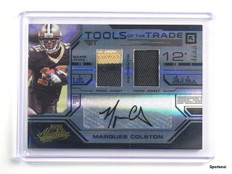 2008 Playoff Absolute Tools Marques Colston autograph auto patch #D07/25 *43411