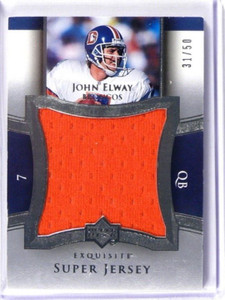 2005 UD Exquisite Super Jersey John Elway jumbo jersey #D31/50 #SJ-JE *39322