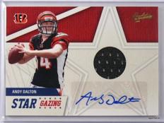 2011 Absolute Star Gazing Andy Dalton autograph auto jersey rc #D20/49 #2 *42709