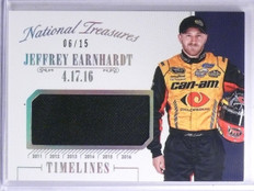 2016 National Treasures Timeline Jeffrey Earnhardt Firesuit #D06/15 #TJE *65458