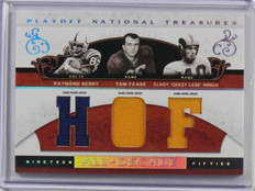 2007 National Treasures Raymond Berry Tom Fears Crazy Legs Hirsch jersey /25 *39