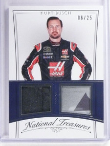 2016 National Treasures Kurt Busch Firesuit Sheet Metal #D06/25 #CMKU *65395