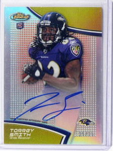 2011 Topps Finest Red Refractor Torrey Smith auto autograph rc rookie #D25/25 *4