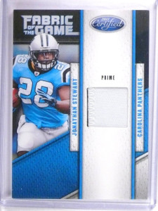 2011 Certified Fabric of the Game Prime Jonathan Stewart Patch #D37/50 #17 *6208