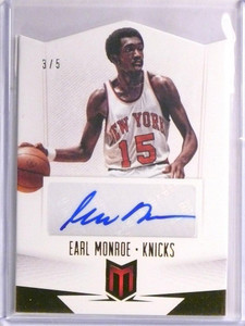 12-13 Panini Momentum Diecut Earl Monroe autograph auto #D3/5 *55173