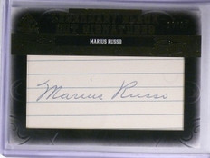 2011 Sp Legendary Cuts Black Marius Russo autograph auto #D19/35 #NY-MR *58372