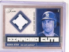 2003 Flair Diamond Cuts Derek Jeter jersey #DC-DJ *52926