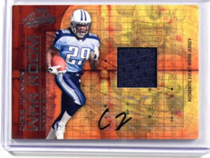 2008 Absolute War Room Chris Johnson auto autograph jersey rc rookie #D13/25 *39