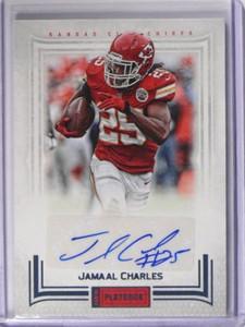 2012 Panini Playbook Jamaal Charles auto autograph #D24/25 *38784