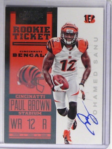 2012 Panini Contenders Mohamed Sanu auto autograph rc rookie #216 *37791