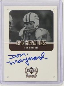 1999 Upper Deck Century Legends Epic Signatures Don Maynard auto autograph *3757