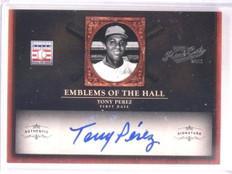 2011 Playoff Prime Cuts Emblems Of Hall Tony Perez autograph #D08/25 *67471