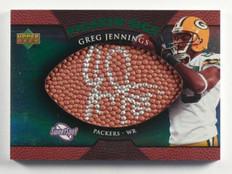 2007 Sweet Spot Pigskin Sigs Greg Jennings auto autograph #D34/75  *36878