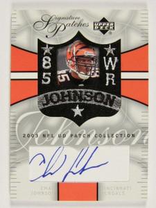 2003 Upper Deck Patch Collection Chad Johnson auto autograph #SP-CJ *30710