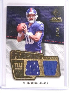 2008 Sp Rookie Threads Flashback Eli Manning dual jersey #D23/60 *52884