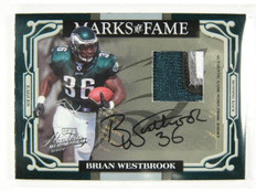 2007 Absolute Marks Fame Brian Westbrook autograph 4clr patch #D24/25 *30285