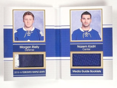 2015-16 SP Game Used Maple Leafs Booklets #D09/15 Patch Rielly Kadri #MGRK *5323
