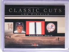 2002 Fleer Classic Cuts Lou Piniella Jersey #LPP *66158