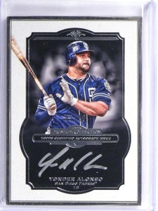 2013 Topps Museum Collection Framed Silver Yonder Alonso autograph #D02/10 *5590