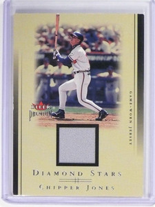 2002 Fleer Premium Chipper Jones Diamond Stars Jersey #CM *49727