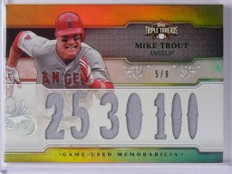 2014 Topps Triple Threads Mike Trout jersey #D5/9 #TTR-MT2 *48768