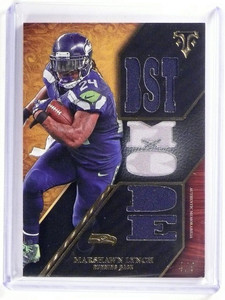 2014 Topps Triple Threads Marshawn Lynch jersey #D4/9 #TTR-162 *51811