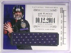 2014 National Treasures Joe Flacco Colossal Materials Jersey #D07/10  *51629