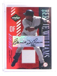 2003 Leaf Limited Moniker Bernie Williams autograph auto jersey #D1/5 *47255
