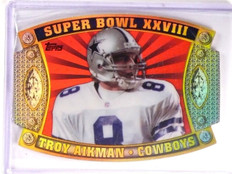 2011 Topps Super Bowl Legends Giveaway Die Cut Troy Aikman #56 *52640