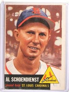1953 Topps Red Schoendienst #78 VG *50764