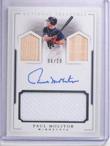 2016 Panini National Treasures Paul Molitor Bat jersey Autograph #D06/10 *64020