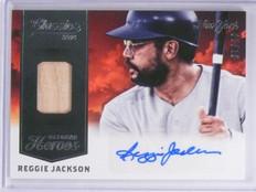 2014 Classics October Heroes Reggie Jackson Bat Autograph auto #D5/10 #28 *63938