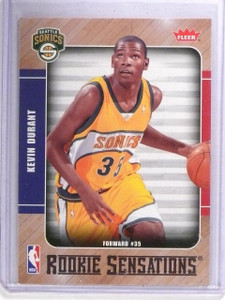 2007-08 Fleer Rookie Sensations Kevin Durant Rookie RC #RS2 *62095