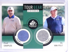 2013 SP Game Used Golf Fred Couples Bo Van Pelt Tour Gear Combo Shirt TG2PC *541