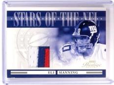 2006 Playoff Prestige Stars NFL Eli Manning 3 color patch #D13/25 #NFL-19 *52859