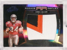 2005 Absolute Rookie Reflex Cadillac Williams 3cl jumbo rc patch #D7/10 *50042