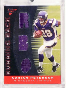 2007 Topps Performance Adrian Peterson rookie triple jersey #D54/60 *50038