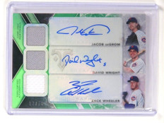 2015 Triple Threads Jacob Degrom David Wright Wheeler auto jersey #D2/18 *52109