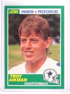 1989 Score Troy Aikman rc rookie #270 NM *50659