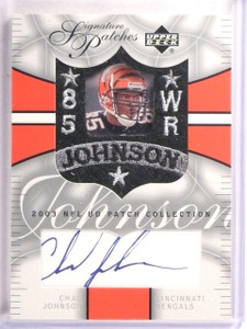 2003 UD Patch Collection Chad Johnson Signature Patches Autograph #SPCJ *55662