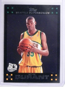 2007-08 Topps Kevin Durant Rookie RC #112 *64389