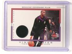 2001-02 Fleer Genuine Coverage Plus Vince Carter Jersey Uniform  *45239