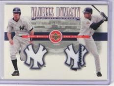 2002 Upper Deck Yankees Dynasty Scott Brosius & Dave Justice jersey *33287