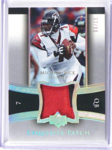 2005 Upper Deck Exquisite Michael Vick 2clr patch #D06/15 #EP-MV *39214