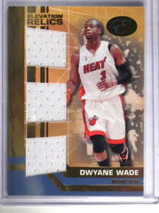 07-08 Bowman Elevation Relics Dwyane Wade Triple jersey #D19/29 #ETR-DW *34072